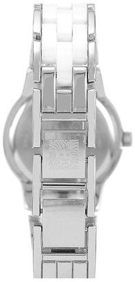 Anne Klein Crystal & Ceramic Bracelet Watch, 25mm