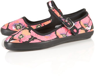 Tabitha Floral Mary Jane Shoes