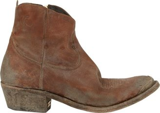 Golden Goose Young Western Ankle Boot-Brown