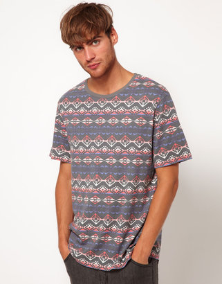 River Island T-Shirt with Tribal Print