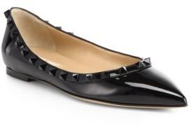 Valentino Punkouture Patent Leather Ballet Flats
