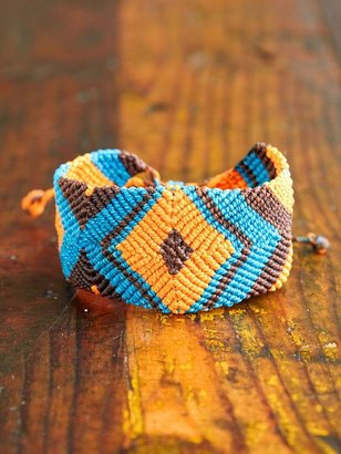 Free People Vintage Multicolor Woven Friendship Bracelet