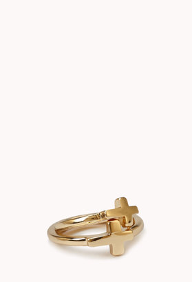 Forever 21 Cross Midi Ring Set
