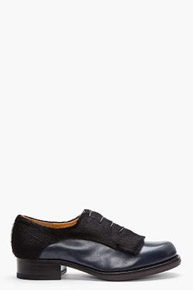 Jil Sander Leather & Calf-Hair Derbys