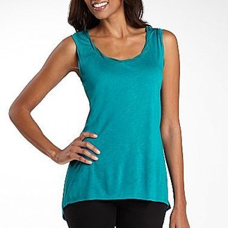 JCPenney a.n.a® Twist-Neck High-Low Tank Top