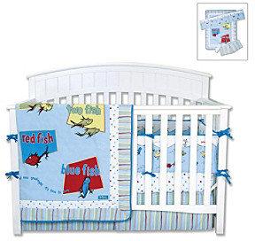 "Trend Lab Dr. Seuss ""One Fish, Two Fish"" 4-pc. Crib Bedding Set"