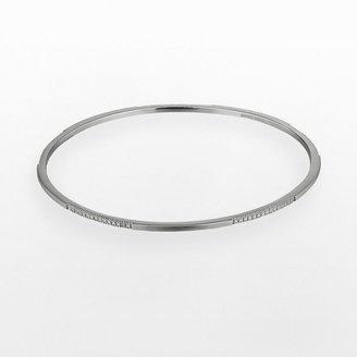 Black Diamond Black rhodium-plated sterling silver accent bangle bracelet