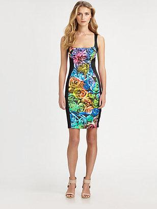 Just Cavalli Techno Rose-Print Dress