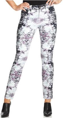 DKNY Jeans, Skinny Printed Jeggings, Crystal Print Wash