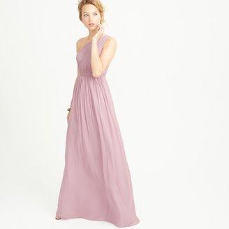 J.Crew Kylie long dress in silk chiffon