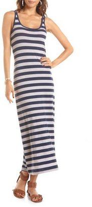 Charlotte Russe Striped Racerback Maxi Dress