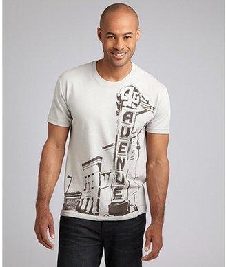 Wet Cement smokey jersey '4th Avenue' graphic crewneck t-shirt