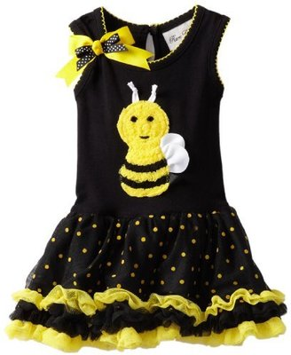 Rare Editions Baby Girls Infant Tutu Dress with 3D Bee