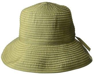 San Diego Hat Company Ribbon Crusher Small Brim Hat (Olive) Bucket Caps