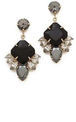 Noir Small Crystal Drop Earrings