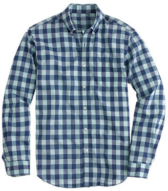 J.Crew Slim lightweight shirt in aqua gingham