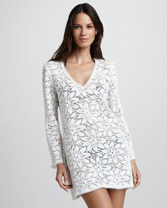 Milly Chrysanthemum Crochet Tunic Coverup