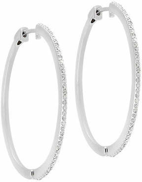 Effy Pave Classica 14K White Gold 0.34 TCW Diamond Earrings