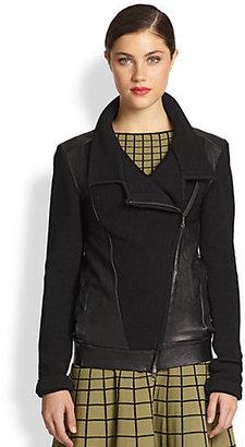 Ohne Titel Knit & Leather Jacket