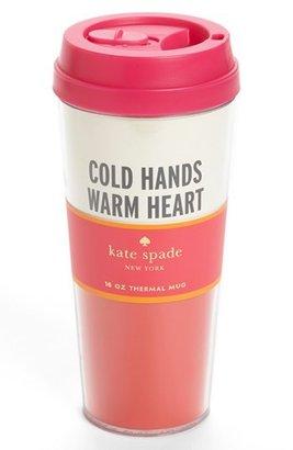 Kate Spade 'cold Hands' Thermal Travel Mug