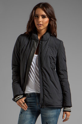 Gryphon Leather Detail Puffer