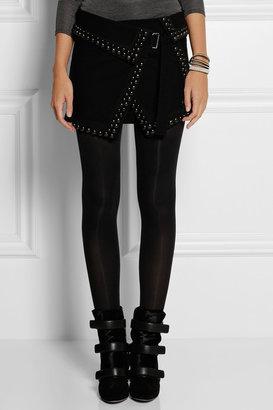 Isabel Marant Loop studded stretch-canvas mini skirt