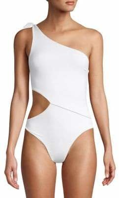 Vitamin A 1-Piece One-Shoulder Swimsuit