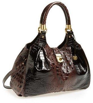 Brahmin 'Elisa' Croc Embossed Leather Shoulder Bag - Brown $395 thestylecure.com