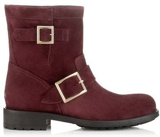 Jimmy Choo Youth Suede Biker Boots