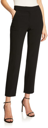 St. John Emma Marocain Cropped Pants, Caviar