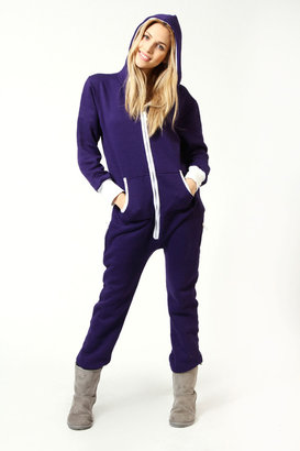 Boohoo Nancy Hooded Zip Front Onesie