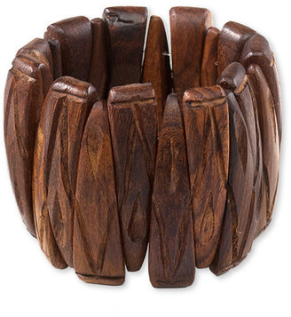 Coldwater Creek Carved wood stretch bracelet
