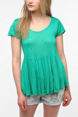 Urban Outfitters Daydreamer LA Cropped High/Low Babydoll Tee