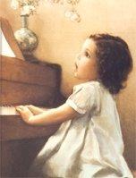 """Children Series Framed Art """"Piano Lesson"""""""