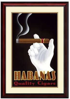 Amanti art ''Habanas Quality Cigars'' Framed Wall Art