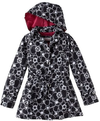 Static floral trench coat - girls 7-16