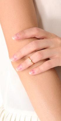 Gorjana Cross Over Mid Finger Ring