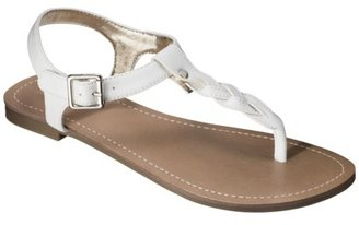 Merona Women's Erin Braided Upper Sandal - White