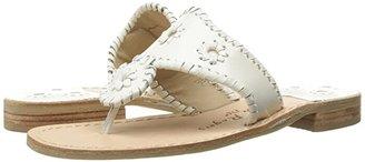 Jack Rogers Jacks Flat Sandal (White) Women's Sandals