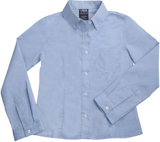 D+art's French Toast Long Sleeve Oxford Blouse with Darts - Blue ( Size 6)