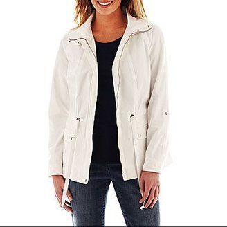 Liz Claiborne Long-Sleeve Zip-Front Drawstring Jacket - Tall