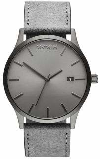 MVMT Monochrome Classic Stainless Steel Leather-Strap Watch