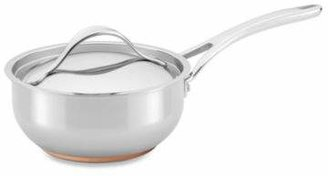 Anolon Nouvelle Copper Stainless Steel 2.5-Quart Covered Saucier