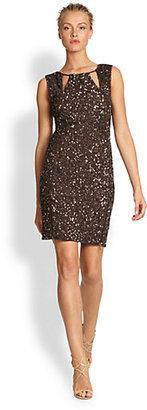 Nicole Miller Beaded Zipper Dress