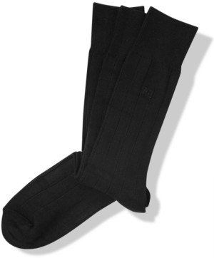 Perry Ellis Men's 3-Pk. Rayon Ribbed Dress Socks