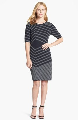 Tahari Stripe Sweater Dress
