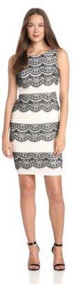 Jax Women's Lace-and-Jersey Dress