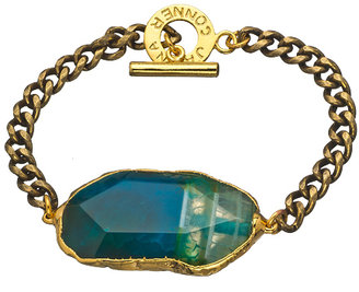 Janna Conner Designs Gold and Turquoise Fire Agate Mireille Bracelet