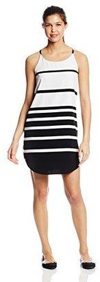 BB Dakota Women's Paone Varigated Stripe Cupra Shift Dress