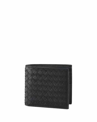 Bottega Veneta Basic Woven Wallet, Black $460 thestylecure.com